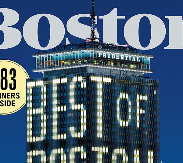 Cover of Boston Magazine for Best of issue with the Prudential building
